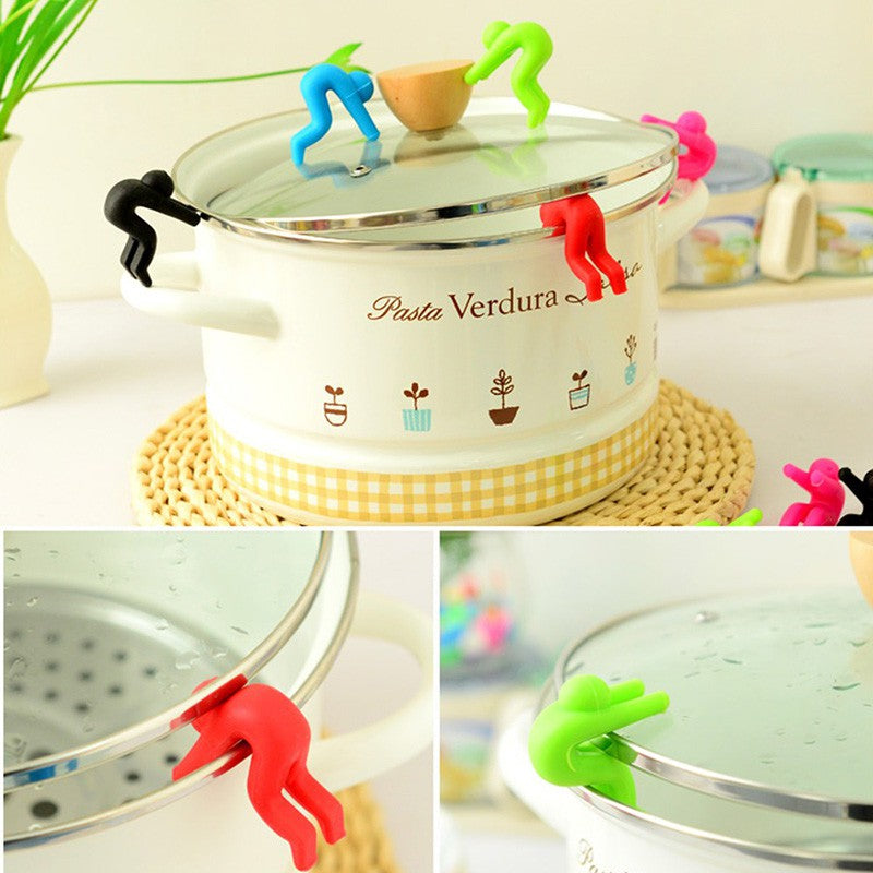 Kitchen spill stoppers make cooking fun - create different scenes while cooking!