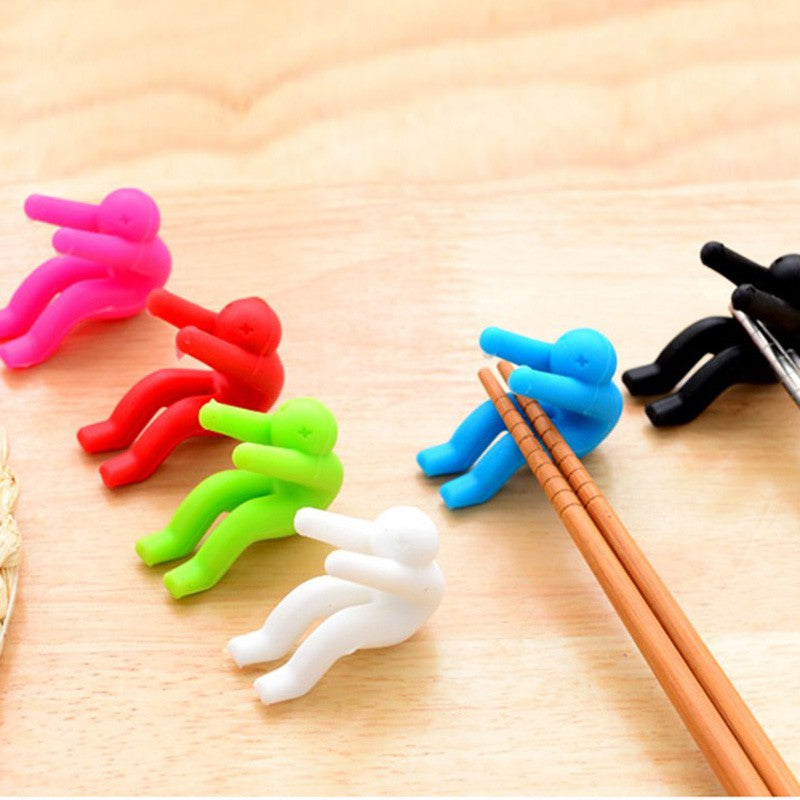 Pot stoppers can also hold chopsticks or phones.  Kitchen fun