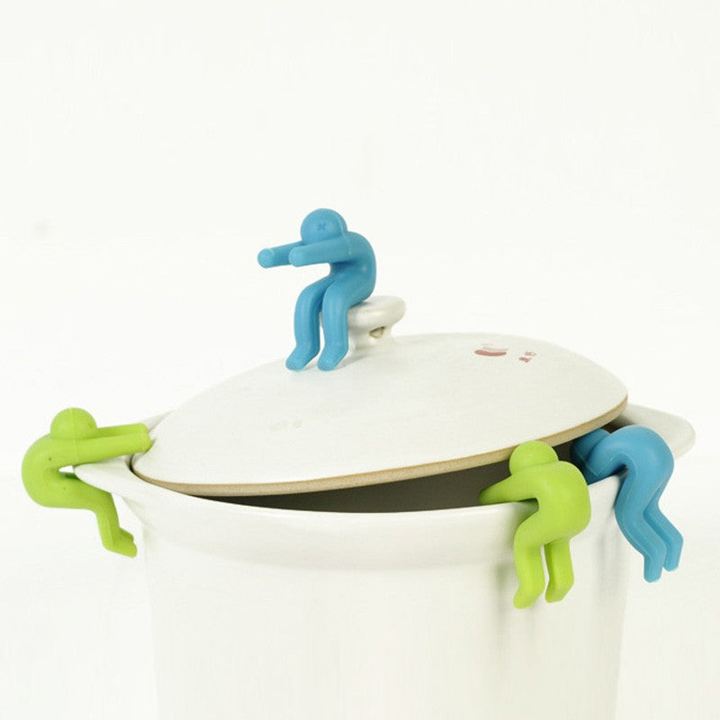 Green and blue spill stoppers make creative kitchen fun