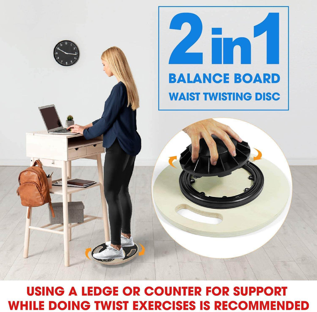 Standing desk balance board – exercise and work out while using your standing desk.  Best wobbel board to get fit