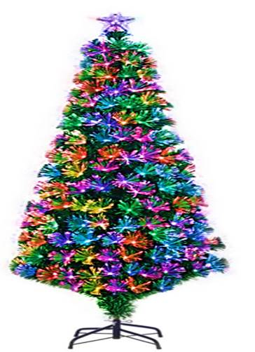 6 Ft Pre-lit Fiber Optic Artificial Christmas Tree