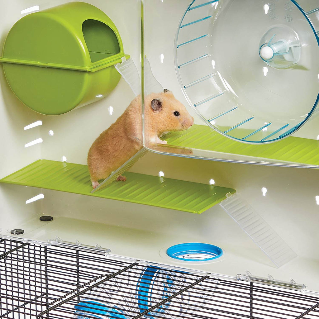 Hamster house includes non slip runs for those little hamster feet!