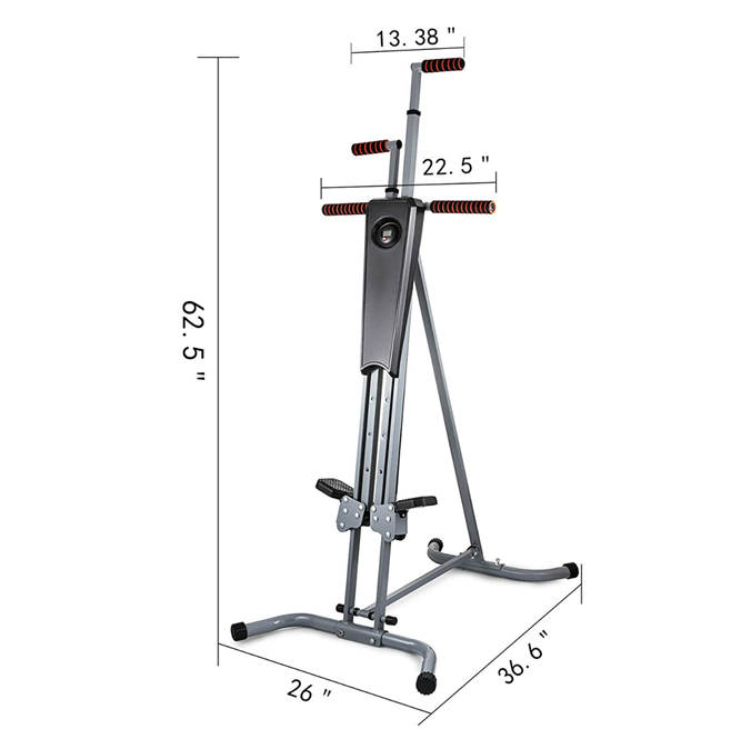 Easy store Vertical stepper can support people weighing up to 286 pounds