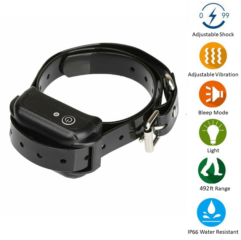 Keep your dog within invisible boundaries with a wireless system comprising a transmitter, training collar and receiver for up to 3 dogs