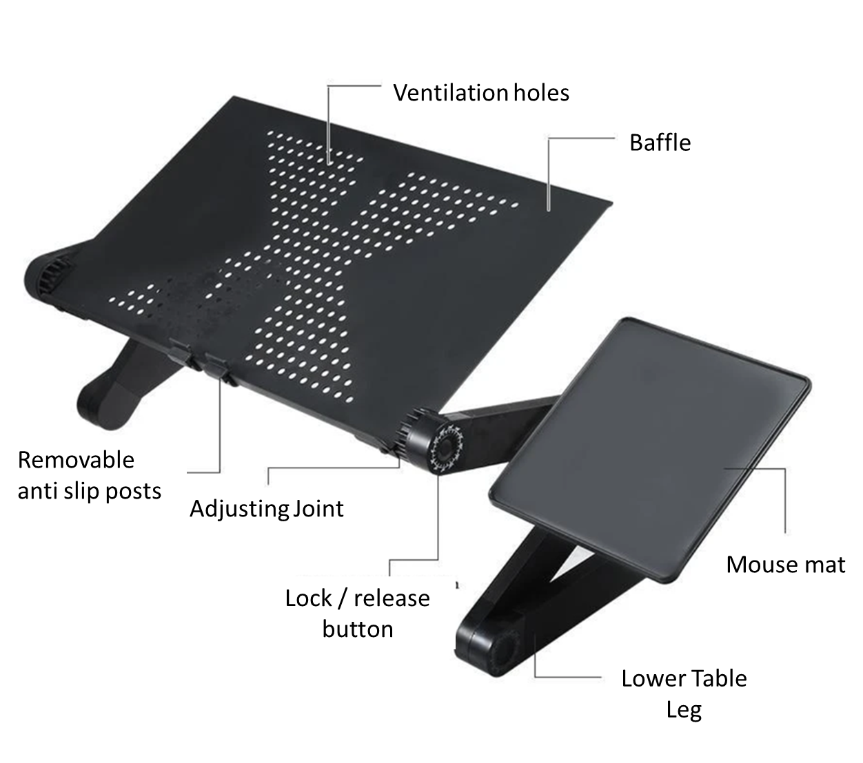 Tablet holder desk perfect for adjusting to any position