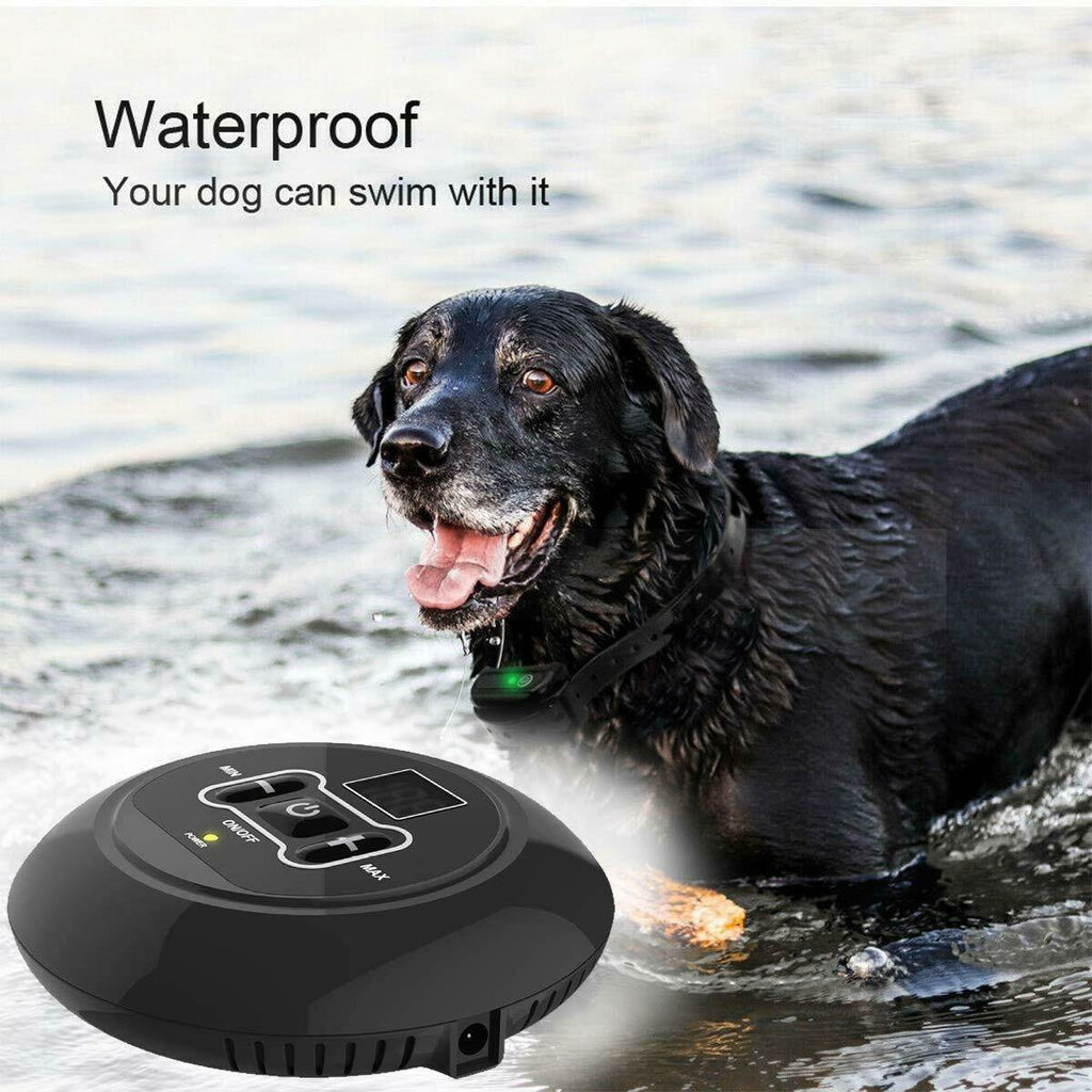 Wireless pet containment system which is totally waterproof and teaches your dog it's boundaries quickly