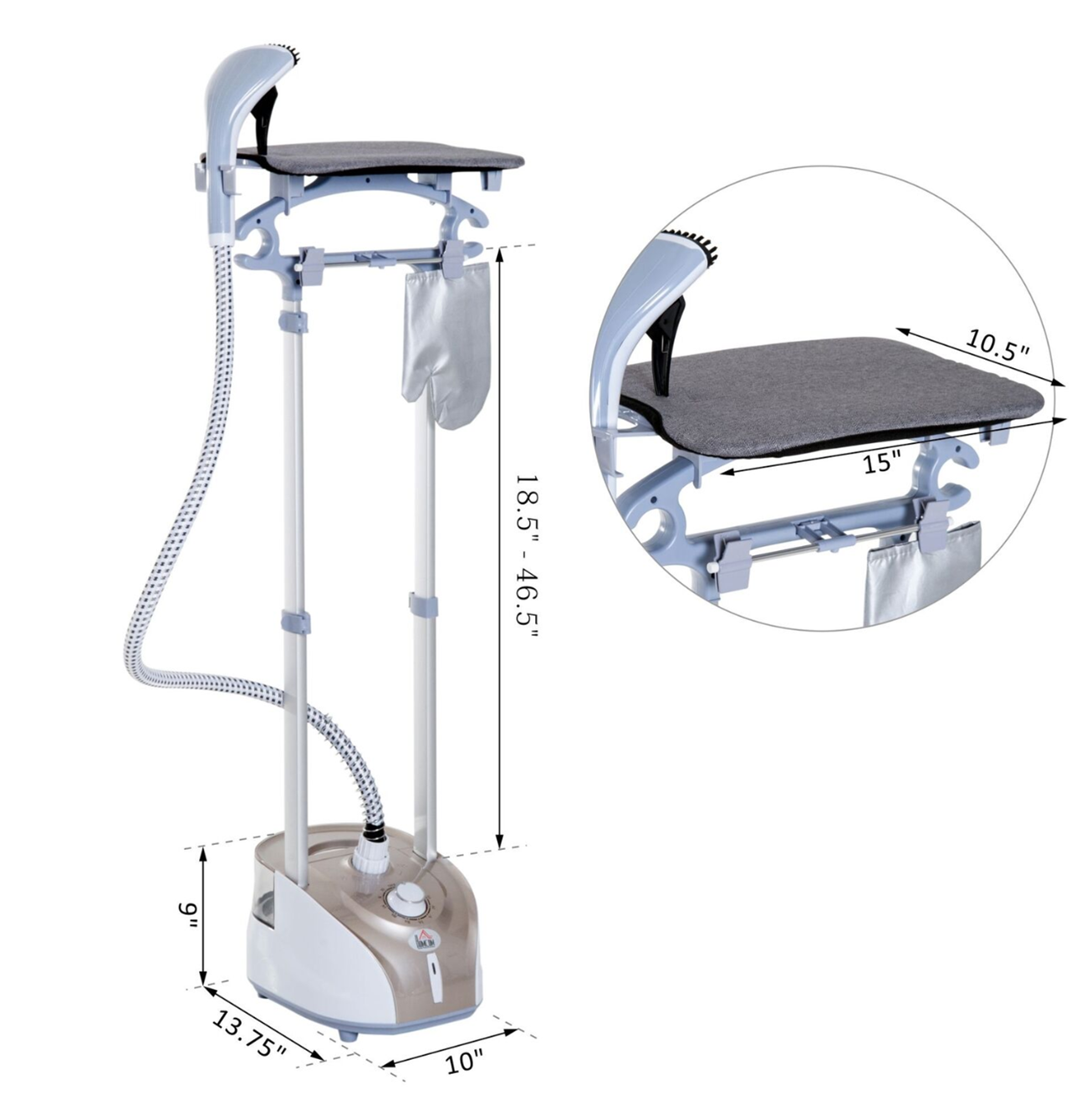 Best Garment Steamer with built in ironing board for ironing all clothes and curtains