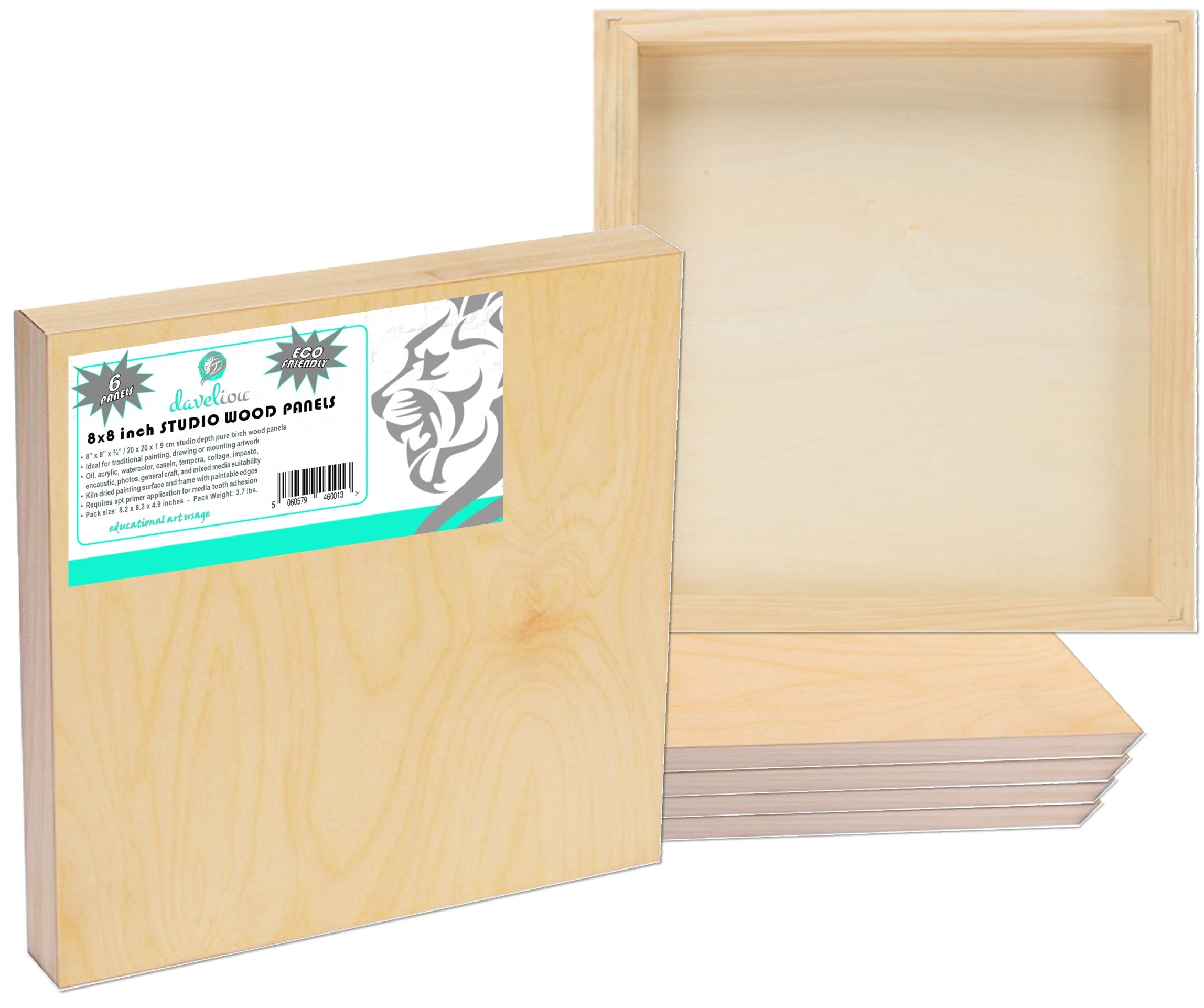 Daveliou™ Wood Panel Sets are eco-friendly art supplies providing the right artist tools, craft supplies and wood boards for painting.