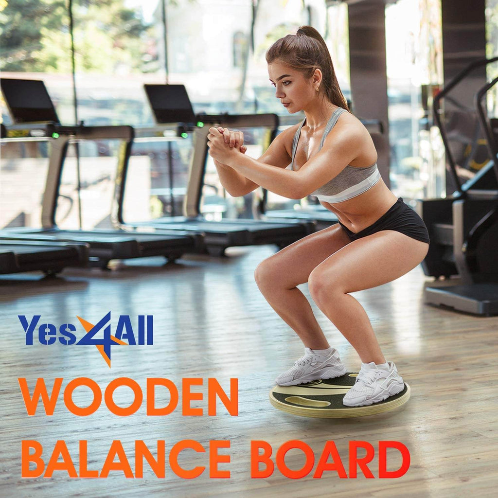 Wooden balance board is perfect for all types of exercise and gym whether at work, home or in the gym