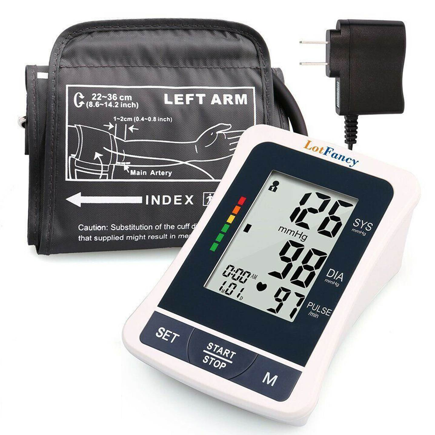 Automatic Upper Arm Blood Pressure Monitor for Home Testing