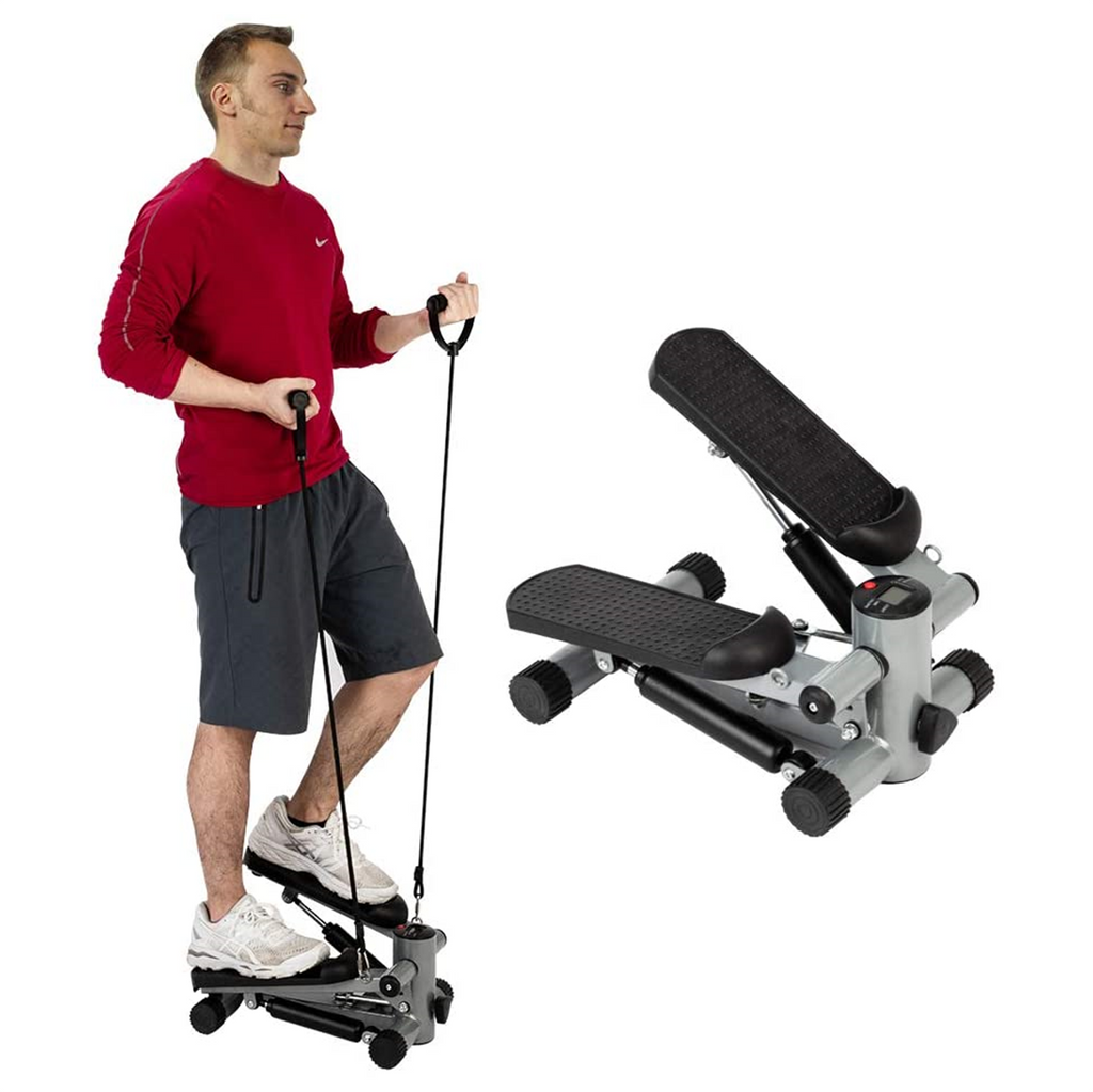 Mini home gym workout with this air stepper machine.  Portable and easy to work out on