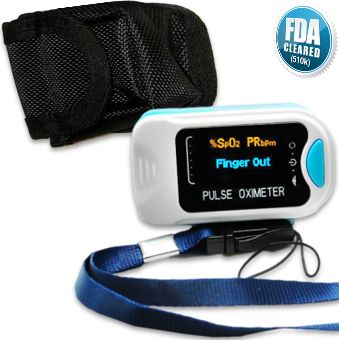 Our fda approved pulse oximeter comes with a handy lanyard to help you ensure you don't lose it if you are on the move.  The lanyard is easy to fit – simply loop it through the slot at the end.