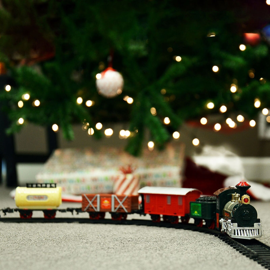 Christmas  Tree Train Set - Train Around Christmas Tree