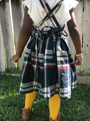 Autumn pinafore Back To School Dress - pinafore - school pinafore - back to school outfit - first day of school dress - school dress
