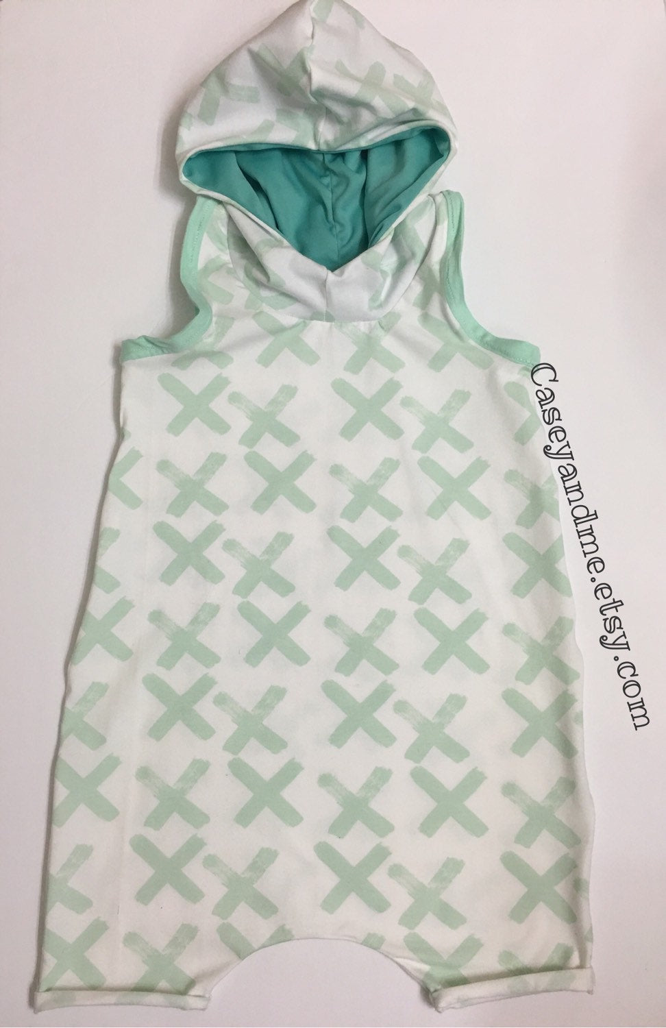 Mint Hoodied romper ,baby romper, toddler romper, stylish romper,toddler outfit