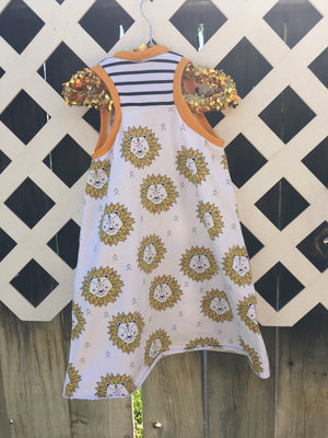 Lion racerback dress