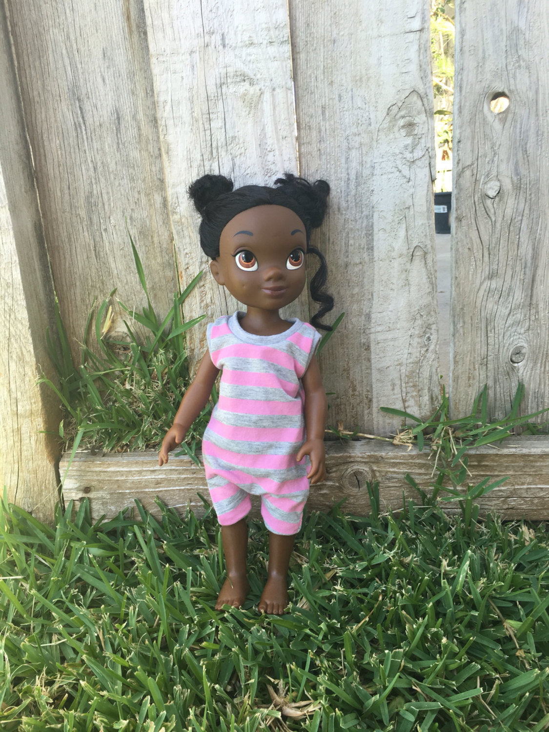 Stripe romper ,matching doll and girl outfit,girl and doll matching outfit, romper ,kids romper