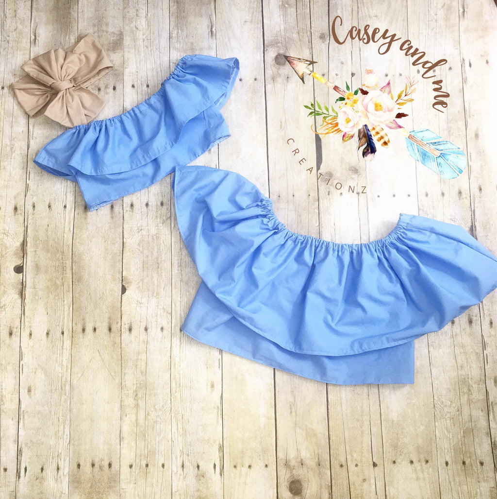 Mommy and me ruffle crop top