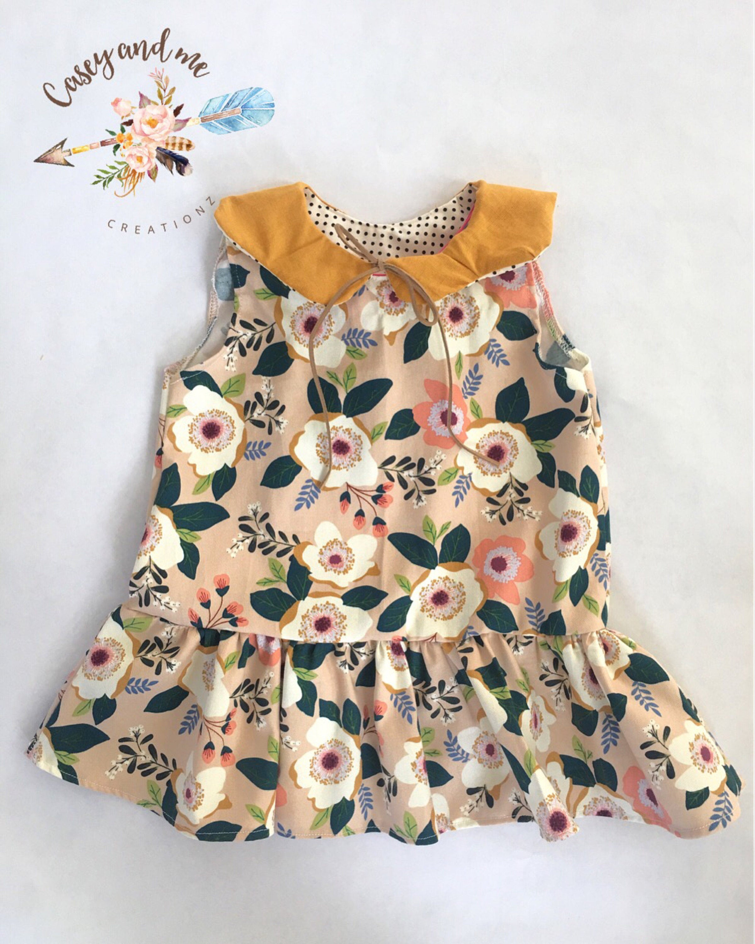 Floral drop waist dress, toddler drop waist dress