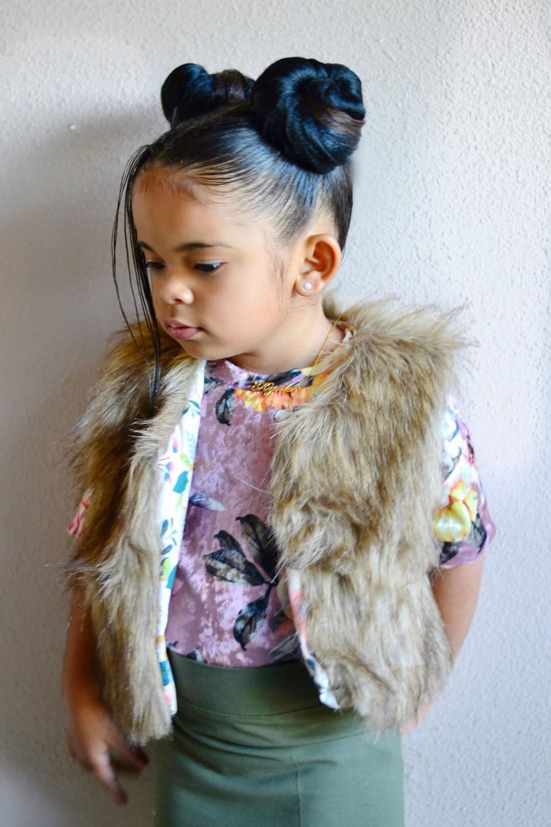 Kids faux fur vest