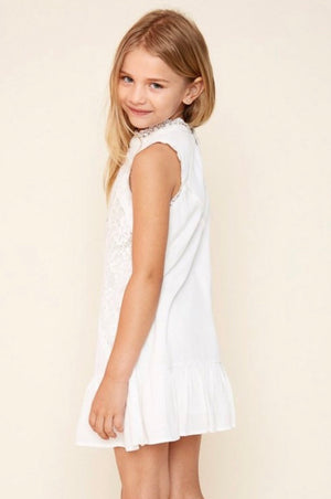 Girls lace mock dress