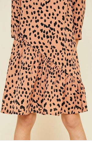Girls Asymmetrical dotted swig dress