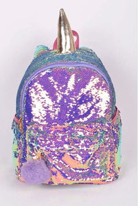 Unicorn sequined backpack