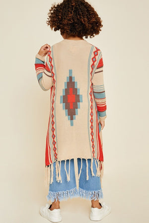 Tribal Bolero cardigan sweater