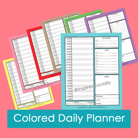 Colored Daily Planner
