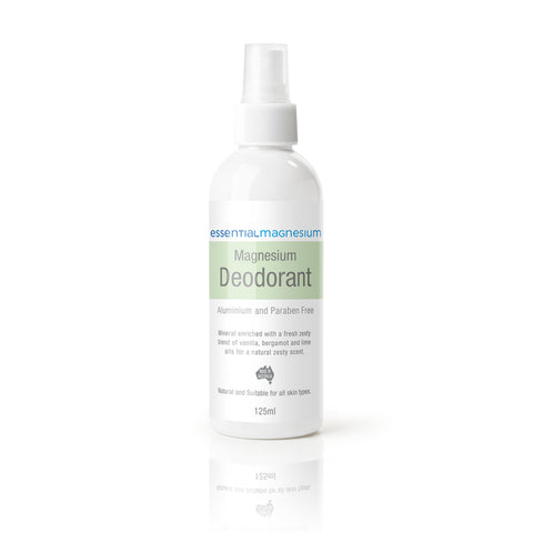 Magnesium Deodorant - Green Label (vanilla, bergamot and lime)