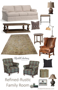 Refined-Rustic Family Room Inspiration