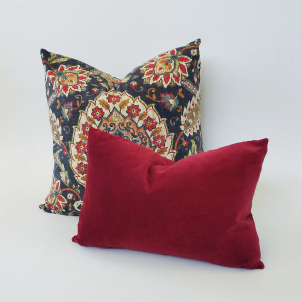 Limited Edition Swavelle/Mill Creek Fidelio Cliffside Floral Linen Pillow Cover