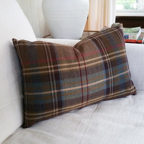 The Ralph Lauren Brookhill Plaid pillow cover works easily from the sofa, to bed, kids room to game room or office to den. Earth tones combine to make this pillow a must for any space from rustic to refined or modern to traditional. Each pillow cover is individually hand-crafted with great attention to detail.