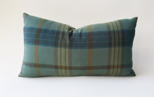 Ralph Lauren Lantern House Plaid Pillow Cover In Sage