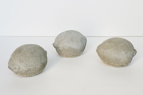 Decorative Concrete Lemons Set Of Three