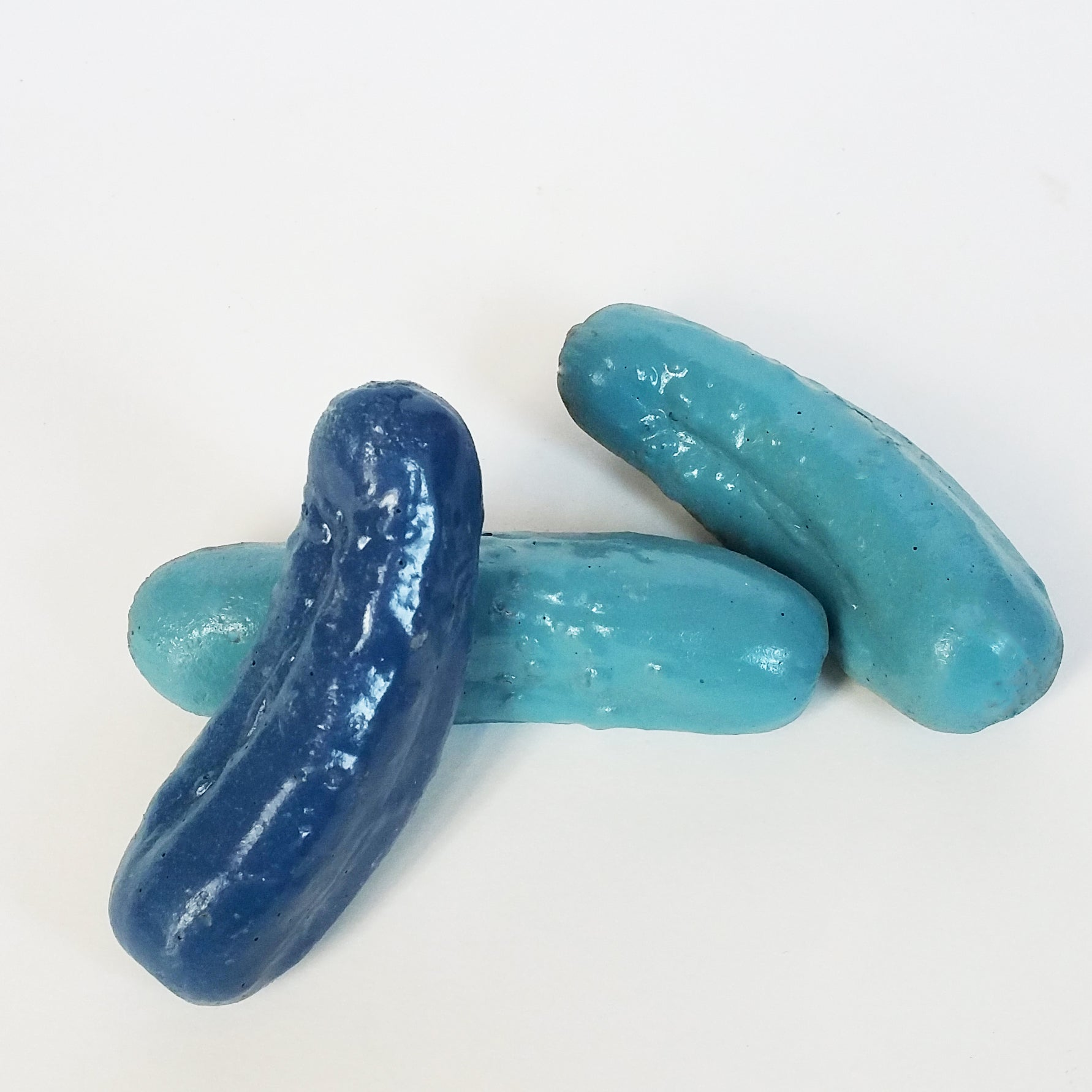 Blue Decorative Concrete Pickles Home Decor Accents