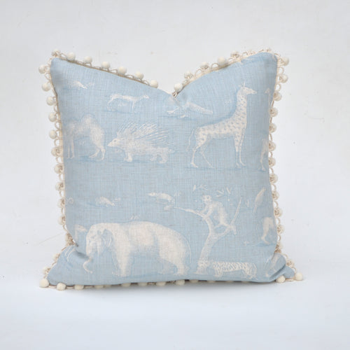 Animal Kingdom By Andrew Martin In Powder Blue Pillow Cover