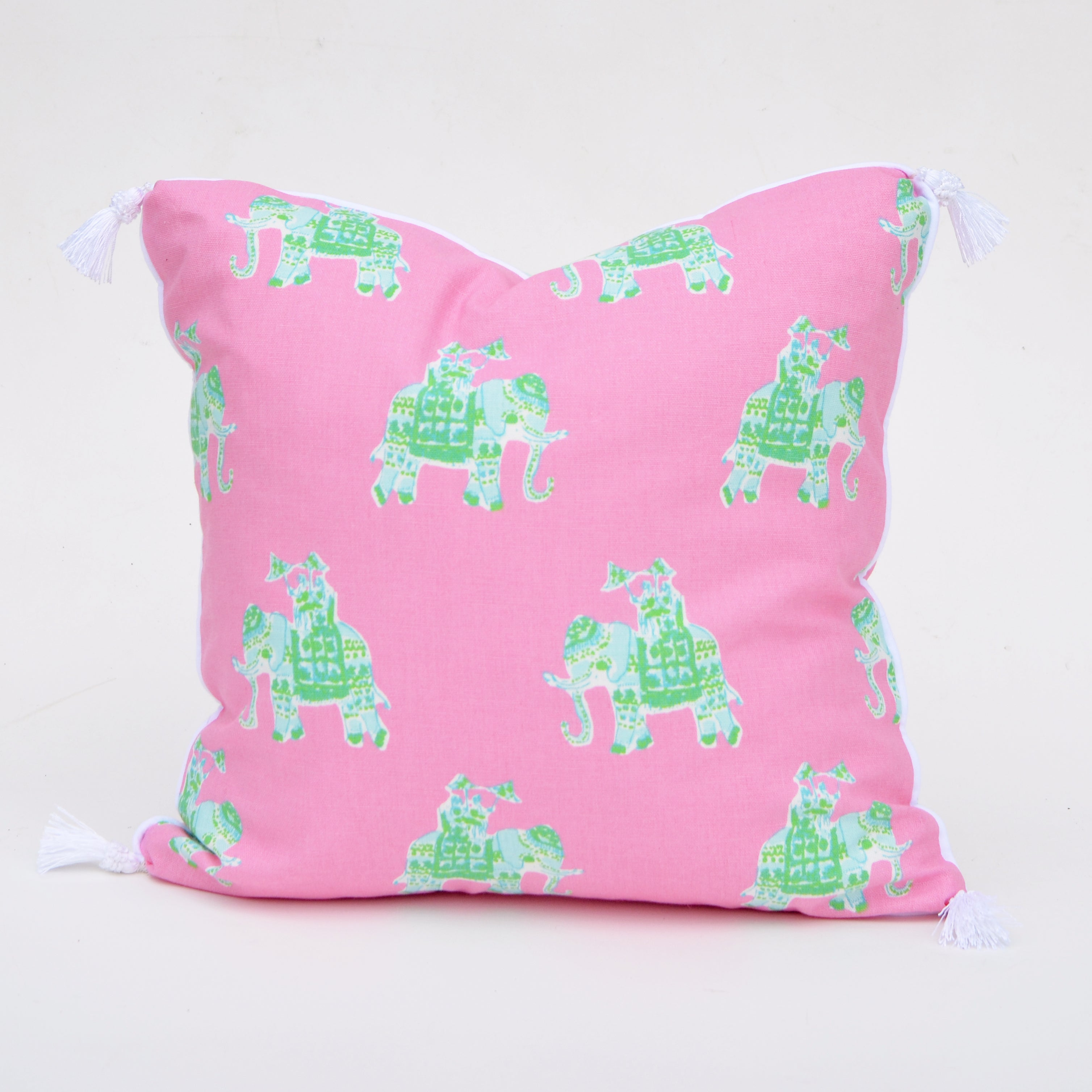 Lilly Pulitzer Bazaar Tiki Pink Elephant Pillow Cover Elizabeth