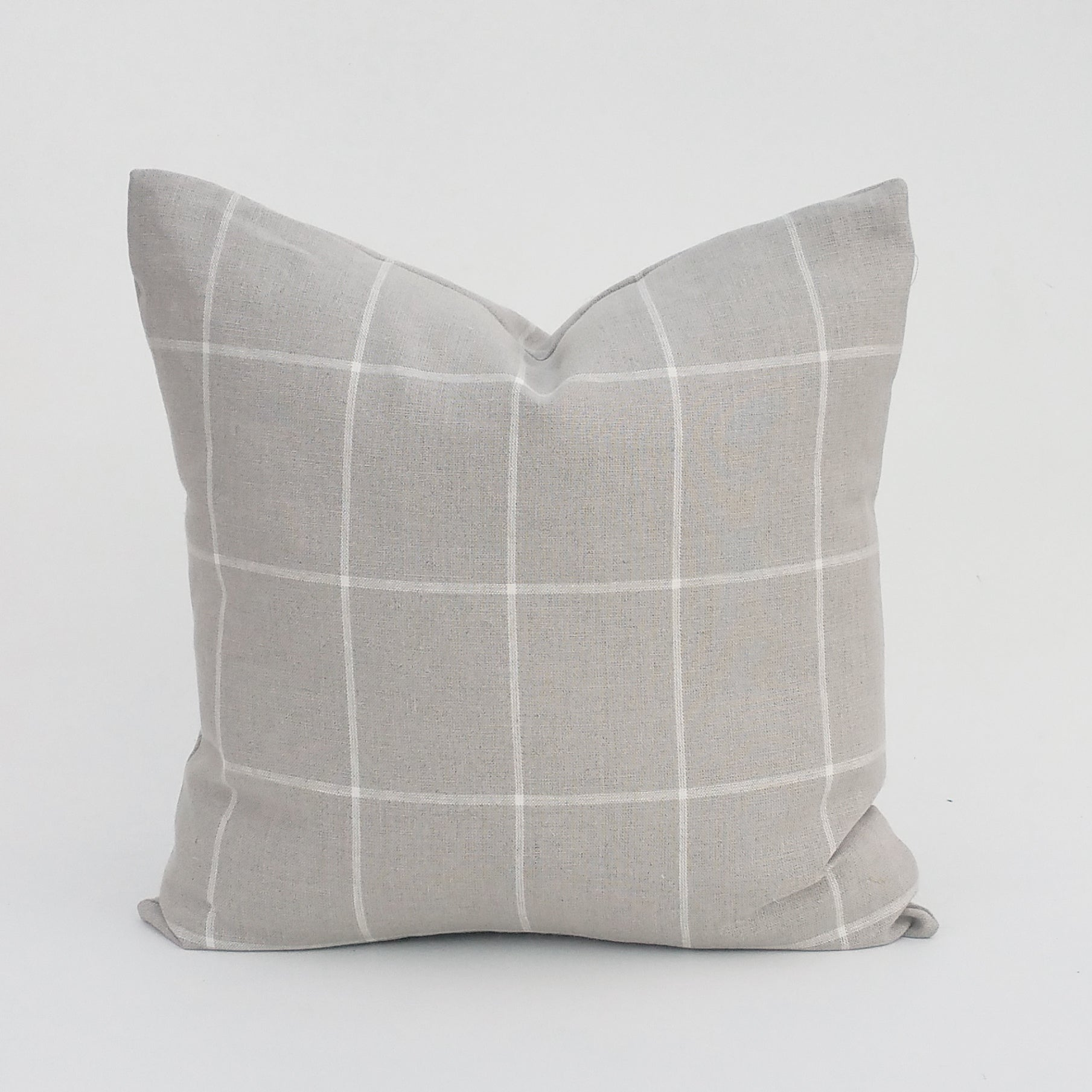 Gray Farmhouse Windowpane Plaid By Ralph Lauren Home Pillow Cover