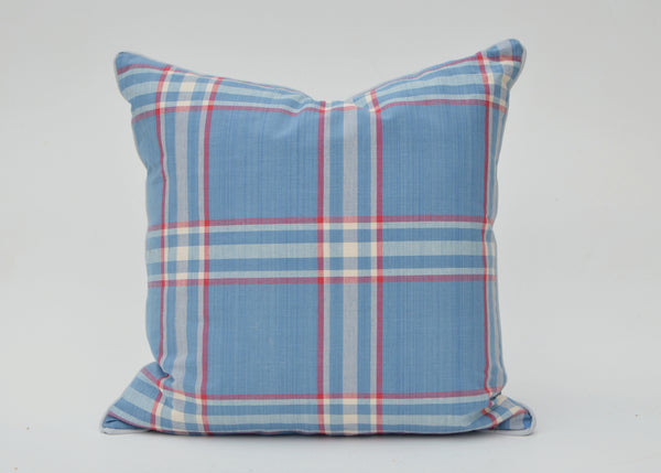 Ralph Lauren Barnwood Plaid Pillow Cover In Americana