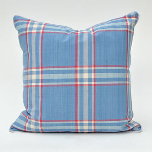Our custom made Ralph Lauren Barnwood Plaid Pillow Cover is a must-have for it's light and bright colors and classic plaid pattern. This crisp, 100% cotton material is finished with a light gray piping and a hidden zipper. Each pillow cover is individually hand-crafted with great attention to detail.