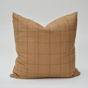 Kravet Camel Color Windowpane Plaid Pillow Cover