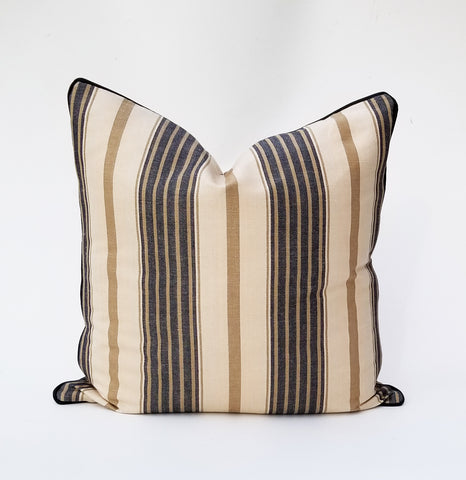 Ralph Lauren Marlberrry Stripe Pillow Cover In Navy
