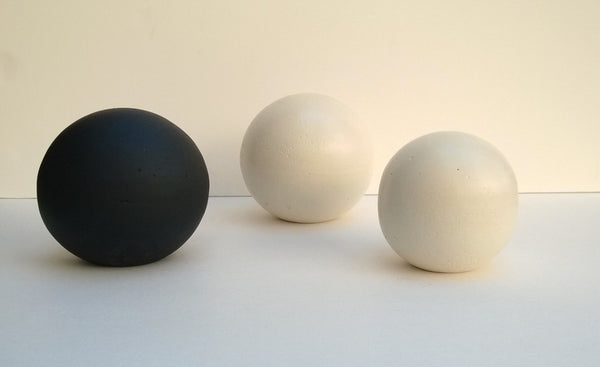 Black Decorative Cement Sphere Home Decor Accent