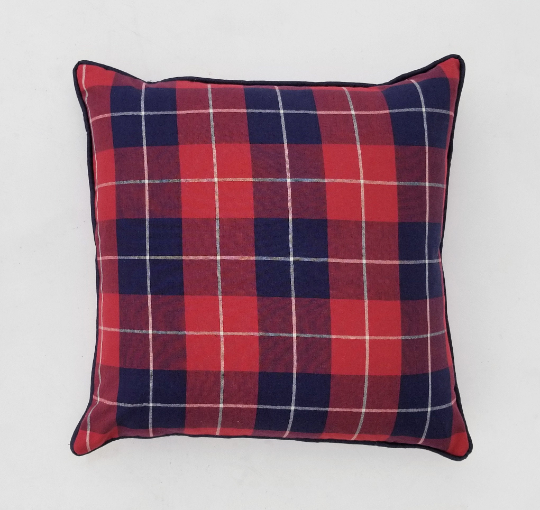 Ralph Lauren Palm Harbor Plaid Pillow Cover In Masaii