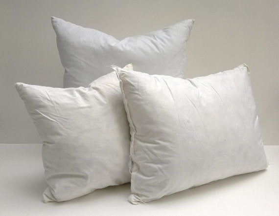 Faux Down Pillow Form Insert, Synthetic Non-Allergenic
