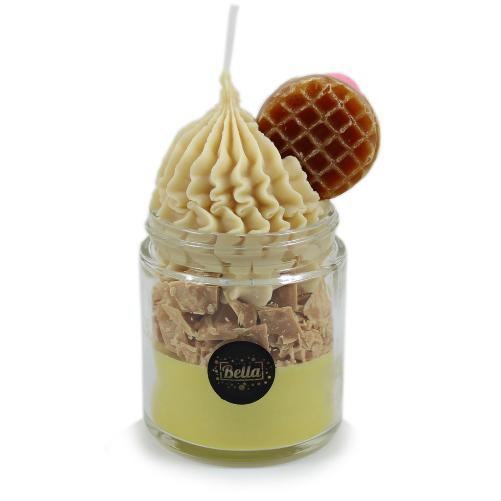 Bella Candle Factory - The Happy Waffle 8 Oz scents soy dessert jar candle