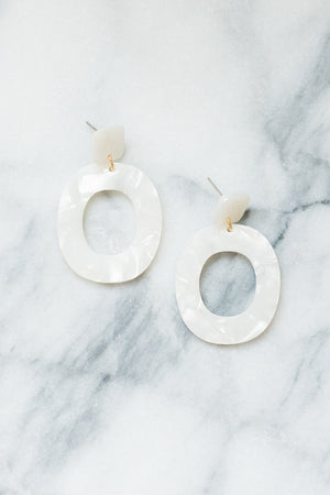 Acrylic Rilla Statement Earrings