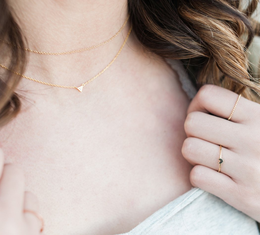 Simple Chain Choker in 24K Gold Plate