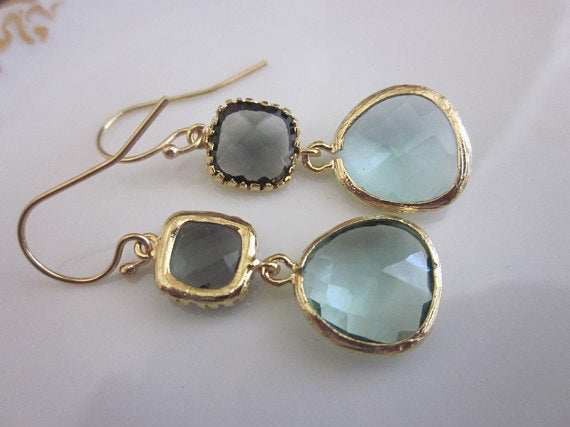 Gold Prasiolite Earrings